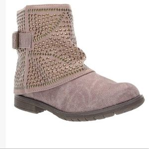 NIB Taupe Studded Combat Studded Ankle Boots